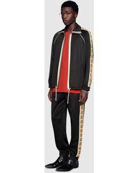 Gucci Lässige Jogginghose aus technischem Jersey - Schwarz
