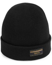Gucci Wool Hat With Label - Black