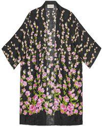 Gucci | Climbing Roses Print Pyjama Kimono | Lyst