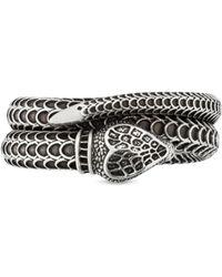 Gucci Anillo de plata con culebra Garden - Metálico