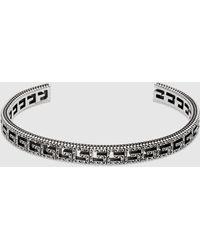 Gucci Armband aus Silber mit Square G - Mettallic