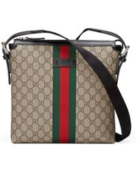 Gucci Umhängetasche aus GG Supreme - Natur
