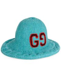 Gucci - Wool Hat With Gg Embroidery - Lyst
