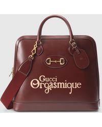Gucci 1955 Horsebit Reisetasche - Rot