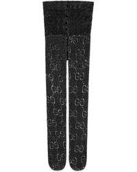 Gucci GG Pattern Tights - Black