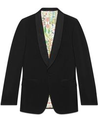 Gucci Signoria Wool Jacket With Embroidery - Black