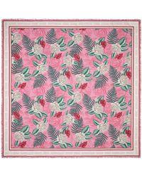 Gucci Hawaiian Print Modal Silk Shawl - Pink