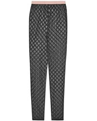 Gucci GG Embroidered Tulle leggings - Black