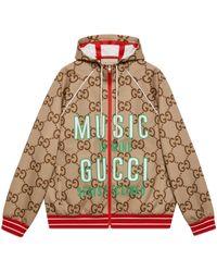 Gucci 100 jacke aus neopren mit gg - Natur