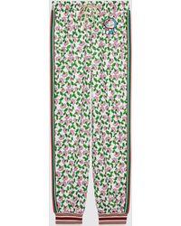 Gucci 【公式】 (グッチ)doraemon X テクニカルジャージー パンツマルチカラーホワイト - グリーン