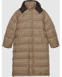 Gucci Jacke aus G Rhombus-Jacquard - Braun