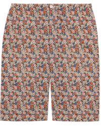 Gucci Short de algodón con floral Liberty - Rosa