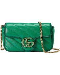 Gucci Microbolso GG Marmont - Verde
