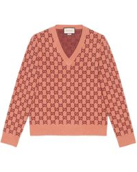 Gucci - Pink Wool Sweater - Lyst