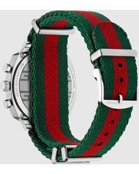 Gucci - 【公式】 (グッチ)〔グリップ〕ウォッチ(40 Mm)グリーン/レッド/グリーン ナイロンundefined - Lyst