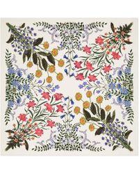 Gucci - New Flora Print Silk Scarf - Lyst