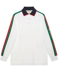 Gucci - Poloshirt mit -Streifen - Lyst