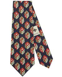 Gucci - Gg Wallpaper Silk Tie - Lyst