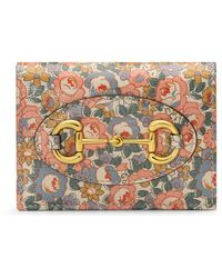 Gucci Online Exclusive Horsebit 1955 Liberty London Card Case - Pink