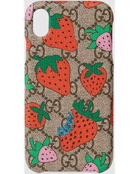 Gucci ストロベリー(いちご) Iphone Xr ケース - マルチカラー
