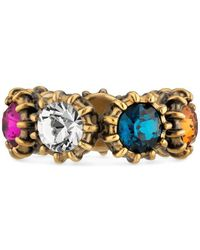Gucci - Ring With Crystals - Lyst