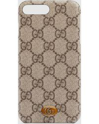 Gucci Ophidia iPhone 8 Plus-Etui - Natur