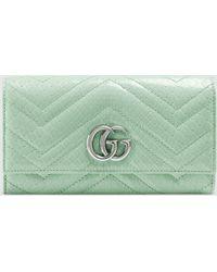 Gucci GG Marmont Continental Brieftasche - Grün
