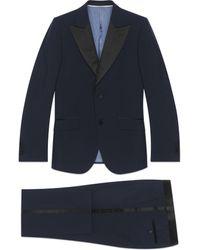 Gucci Esmoquin de lana de angora ajustado - Azul