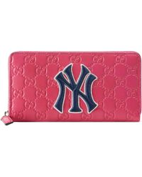 Gucci - Zip Around Wallet With Ny Yankees��� Patch - Lyst