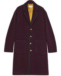 Gucci GG Wool Coat - Blue