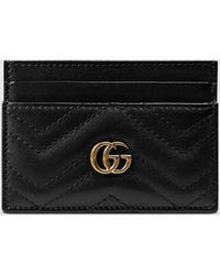 Gucci グッチ〔GGマーモント〕カードケース - ブラック