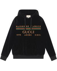 Gucci Oversize Sweatshirt With Embroidery - Black