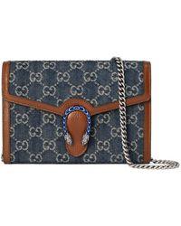 Gucci Minibolso Dionysus con cadena - Azul