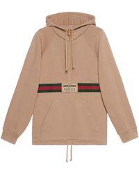 Gucci Pullover mit Web und Etikett - Braun