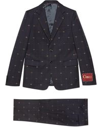 Gucci Anzug aus GG Wolle - Blau