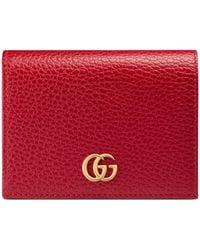 Gucci Kartenetui aus Leder - Rot