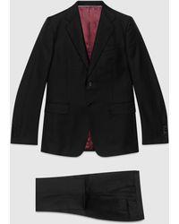 Gucci Anzug aus Wolle mit gerader Passform - Schwarz