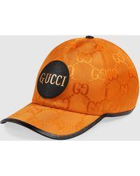 Gucci 【公式】 (グッチ) Off The Grid ベースボールキャップオレンジ GG Econyl®オレンジ