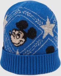 """Gucci """"Disney x """" Mütze aus Wolljacquard - Blau"""