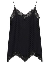 Gucci GG Silk And Lace Lingerie Dress - Black