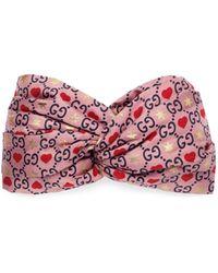 Gucci Silk Headband - Pink