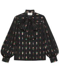 99c2406af Gucci - Viscose Shirt With Fil Coupé - Lyst