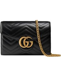 Gucci GG Marmont Matelassé Mini Bag - Black