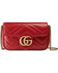 Gucci - GG Marmont Matelassé Leather Super Mini Bag - Lyst