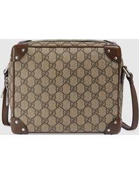 Gucci - Schultertasche mit Lederdetails - Lyst
