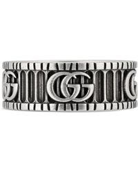 Gucci Ring With Double G - Multicolour