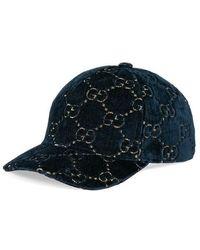 Gucci - Gg Velvet Baseball Cap - Lyst