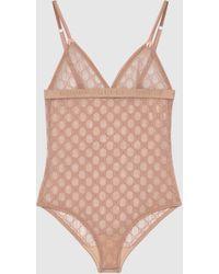 Gucci Body aus GG Tüll - Pink