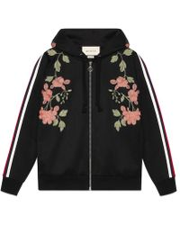 Gucci - Embroidered Jersey Sweatshirt - Lyst