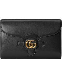 Gucci Clutch With Double G - Black